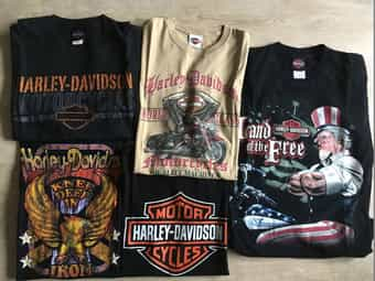 5x Harley Davidsion T-Shirts Größe