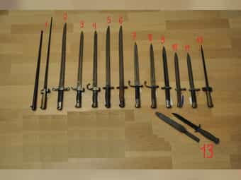 Bajonett Sammlung Messer Dolch Säbel
