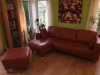 Schönes 3er Sofa mit Chaiselongue