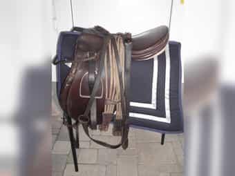 Alter Pferdesattel Satel aus Dachbodenfund
