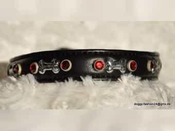 Luxus Lederhalsband aus weichen Ziegenleder